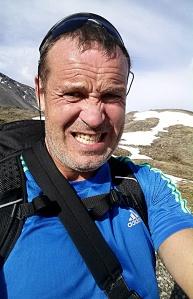 Jeg er ikke noe vakkert syn etter åtte kilometer i fjellet.