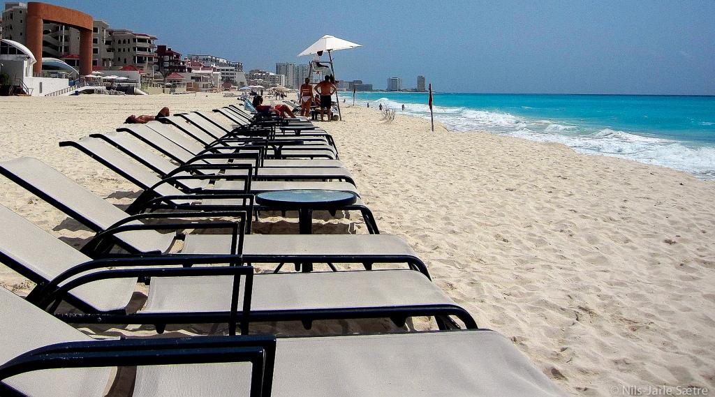 Fantastiske stender i Cancun. Og godt med plass :)