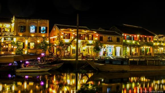Sentrum av Hoi An en sen sommerkveld.