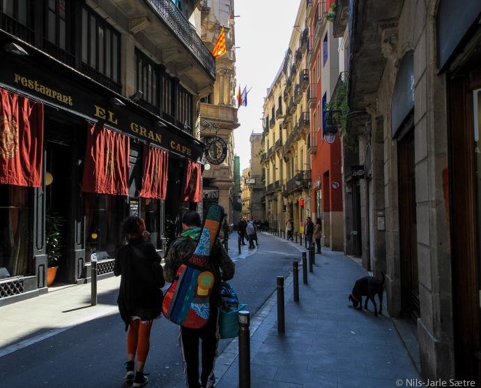 En av Barcelonas uttalige små gater som man kan vandre i timevis i.