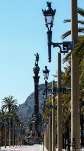 Columbusmonumentet, et av de mest kjente monumentene i Barcelona.