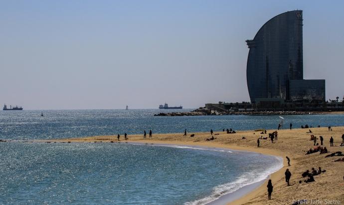San Sebastian-stranden.