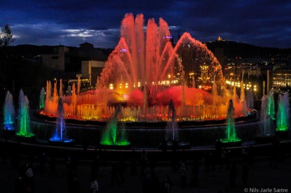 Font Màgica ved Plaça d'Espanya.