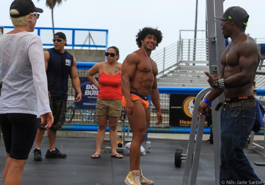 Treningssenteret Muscle Beach er noe for seg selv.