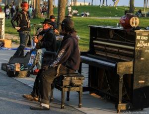 Noen av veldig mange gatemusikanter.