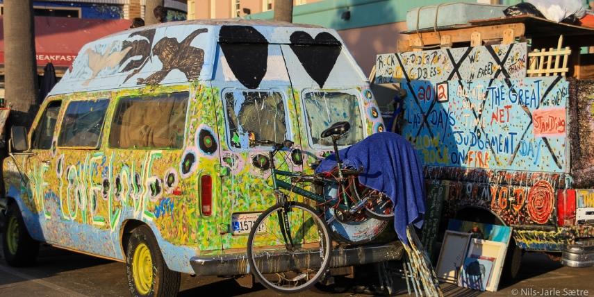 En av mange alternative bosteder man finner i Venice Beach.