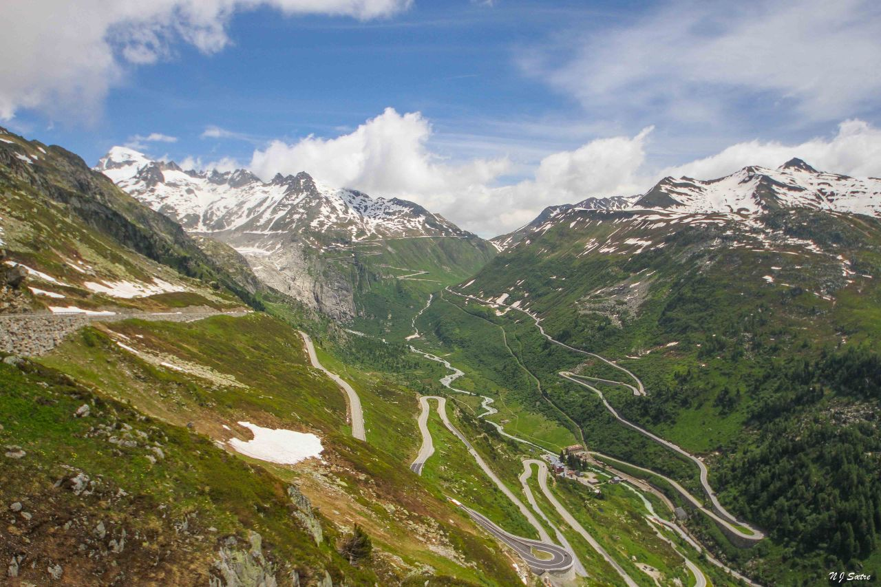 Fire fjellpass på éndag