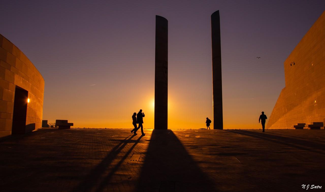 Solnedgang uten sol